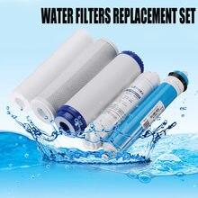5 ro equipamento do cartucho do purificador de água da substituição do filtro da osmose reversa com 75/100/125gpd membrana filtro de água kit