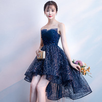 2019 New Pattern Dignified Starry Sky Party Strapless Tube Top Dress Woman