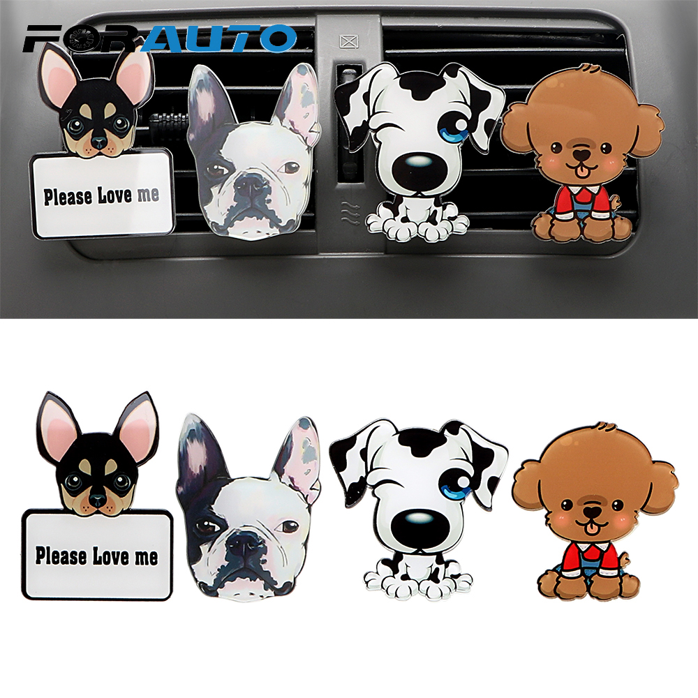 FORAUTO Air Freshener Air Conditioner Outlet Clip Car Outlet Perfume Car-styling Car Ornament Solid Fragrance Cute Puppy Dog