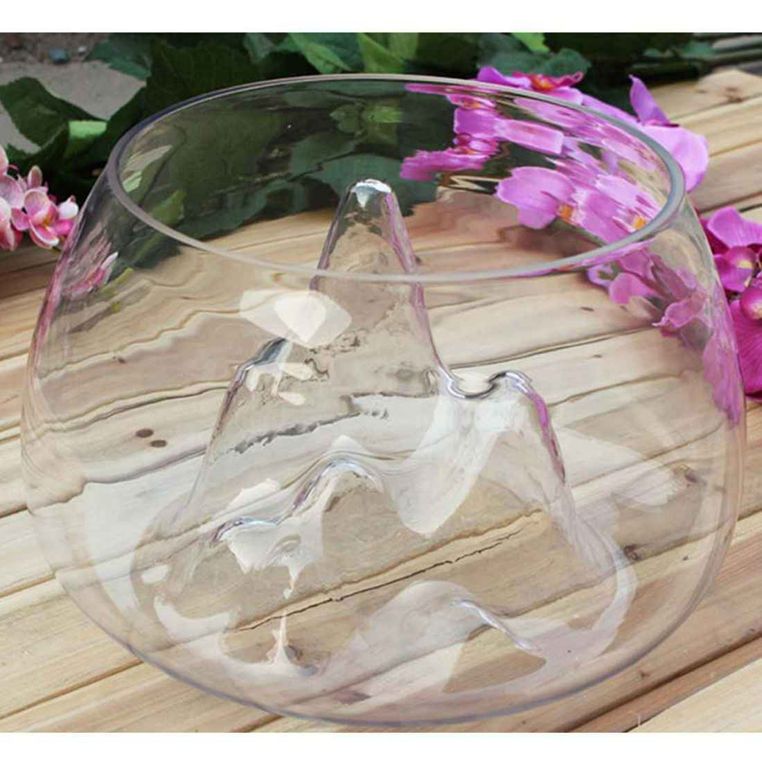 Clear Glass Vase Fish Tank Goldfish Aquarium Bowl Home Terrarium Decor