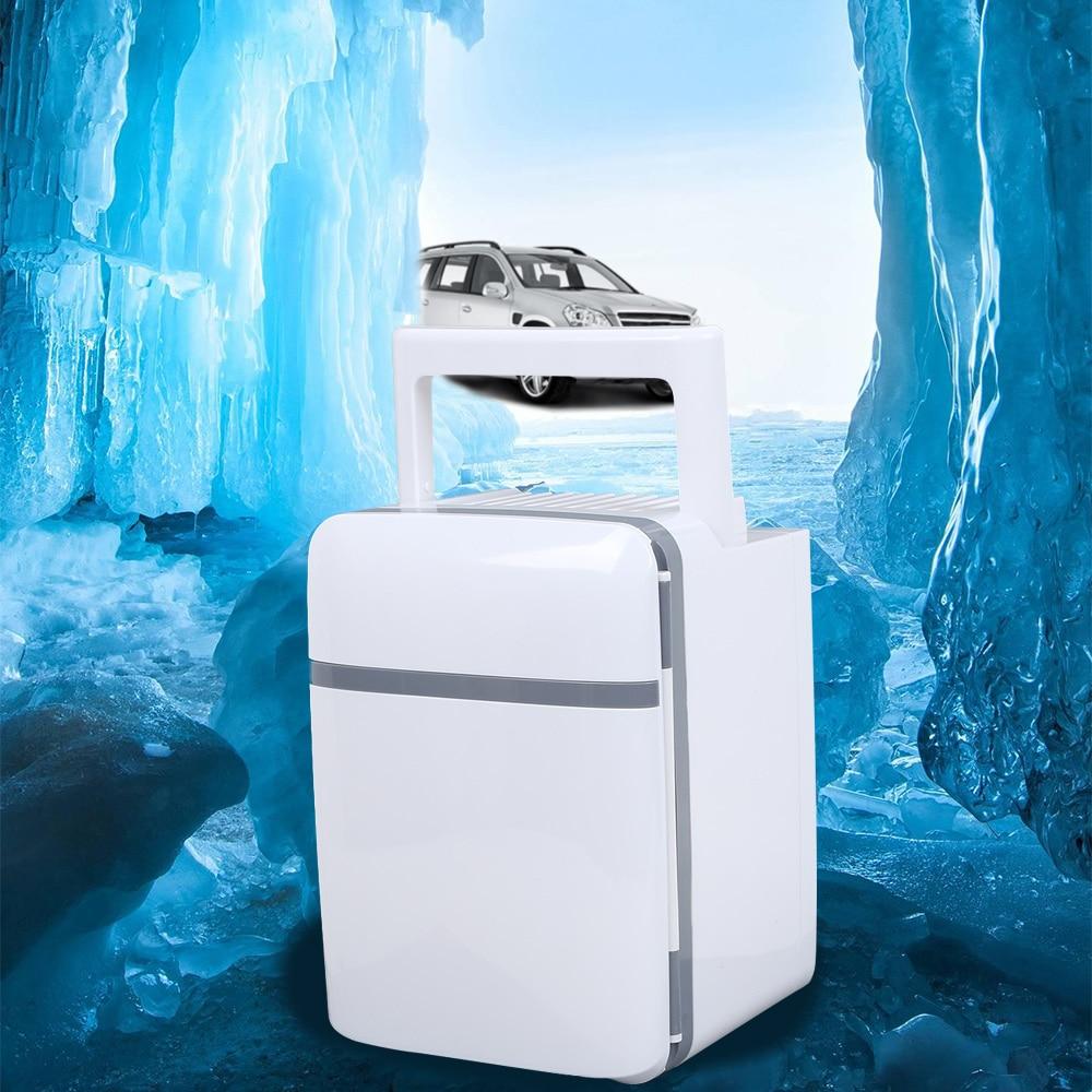 10L 220 V/12 V voiture électrique réfrigérateur à domicile réfrigérateur Mini double usage Cool plus chaud dortoir canettes bière refroidisseur pour voiture de bureau à domicile