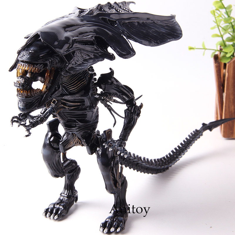 Инопланетяне гибридные металлические фигурки #047 Xenomorph инопланетянин королева ПВХ королева инопланетянин игрушка фигурка экшн Коллекция М