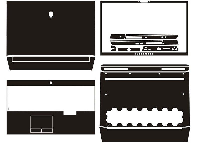 Laptop Carbon fiber Skin Sticker Cover For 2019 release Alienware Area-51m 17.3Laptop Carbon fiber Skin Sticker Cover For 2019 release Alienware Area-51m 17.3