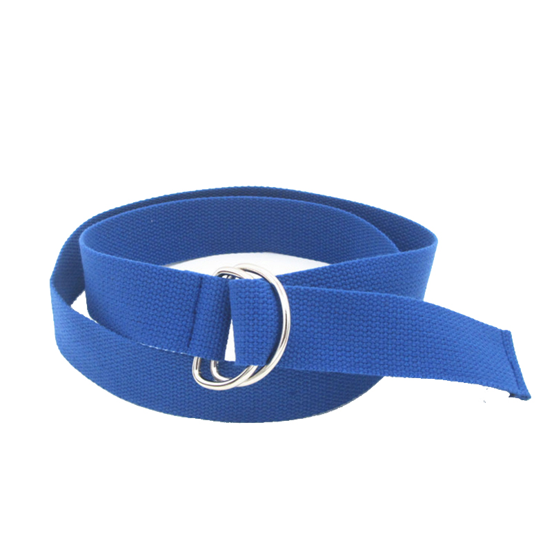 2018 New 1 Pc Unisex Canvas   Belt   Black Fabric Webbing Waist Casual D Ring Plain Canvas   Belt   Waistband Dropshipping