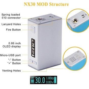 Aspire – Cigarette électronique X30 Rover, Kit Original avec réservoir atomiseur de 2ML Nautilus X, écran de 0.86 pouces