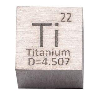 Image 2 - 1 قطعة 99.5% التيتانيوم النقي عالية النقاء مكعب Ti المعادن منحوتة عنصر الدورية الجدول الحرفية مجموعة رائعة 10*10*10 مللي متر