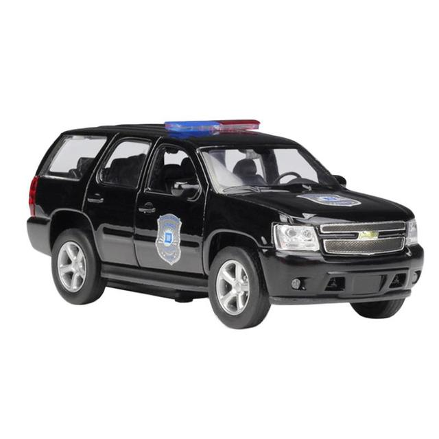 US $7 56 46% OFF|Mini Car Model 1:36 for Chevrolet Tahoe Police Car SUV  1/36 Diecast Model Car Simulation Decoration Black-in Diecasts & Toy  Vehicles