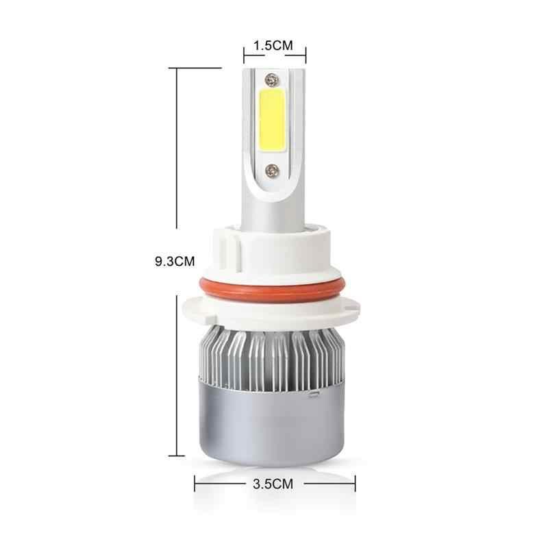 2 Pcs C6 LED Headlight Bulbs Set 6500K Headlights Lamp H4/9003/HB2 Hi/Lo H1 H3 H7 9004/HB1 9005/HB3 9006/HB4 9007/HB5 LED Lamps