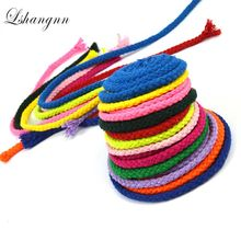 5MMX30Meters DIY Handmade Cotton Rope Woven Cord String For Accessories Bag Craft Projects Rond 24 Color