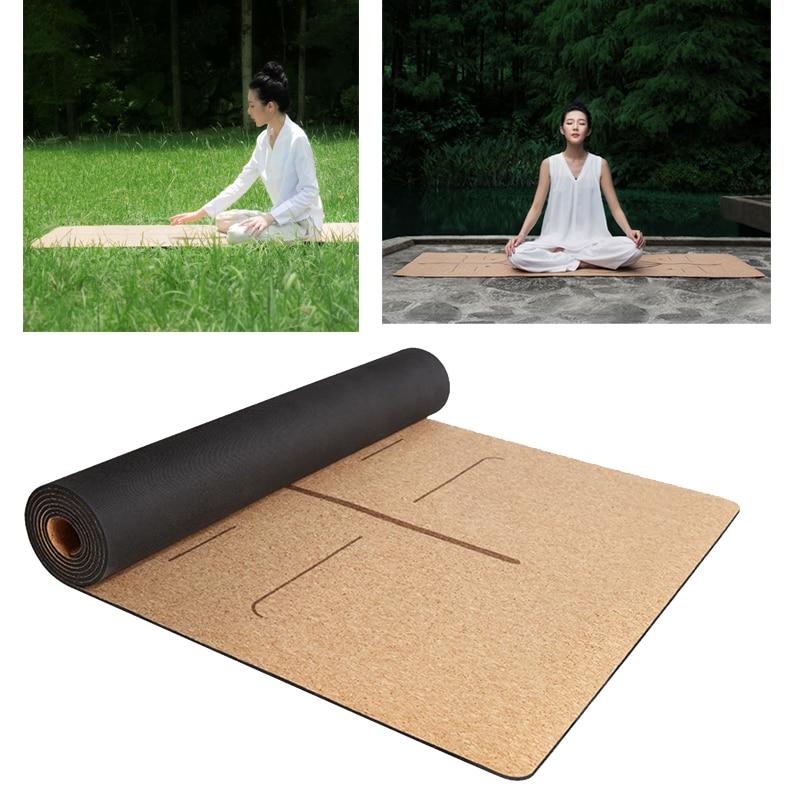 XIAOMI YUNMAI 4mm Natural Rubber Soft Cork Yoga Mats Non-slip Exercise Sports Pilates Yoga Health Care Body Massage Relaxation цена
