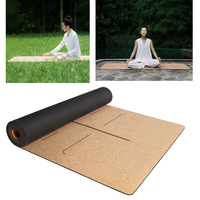 XIAOMI YUNMAI 4mm Natural Rubber Soft Cork Yoga Mats Non slip Exercise Sports Pilates Yoga Health Care Body Massage Relaxation