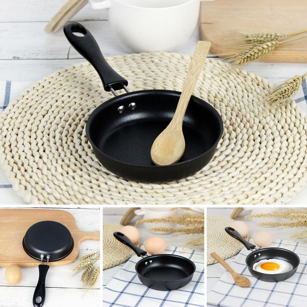 12cm Cute Portable Home Anti-scratch Coating Egg Pot Kitchen Supplies Non Stick Mini Cookware Frying Pan Breakfast Long Handle