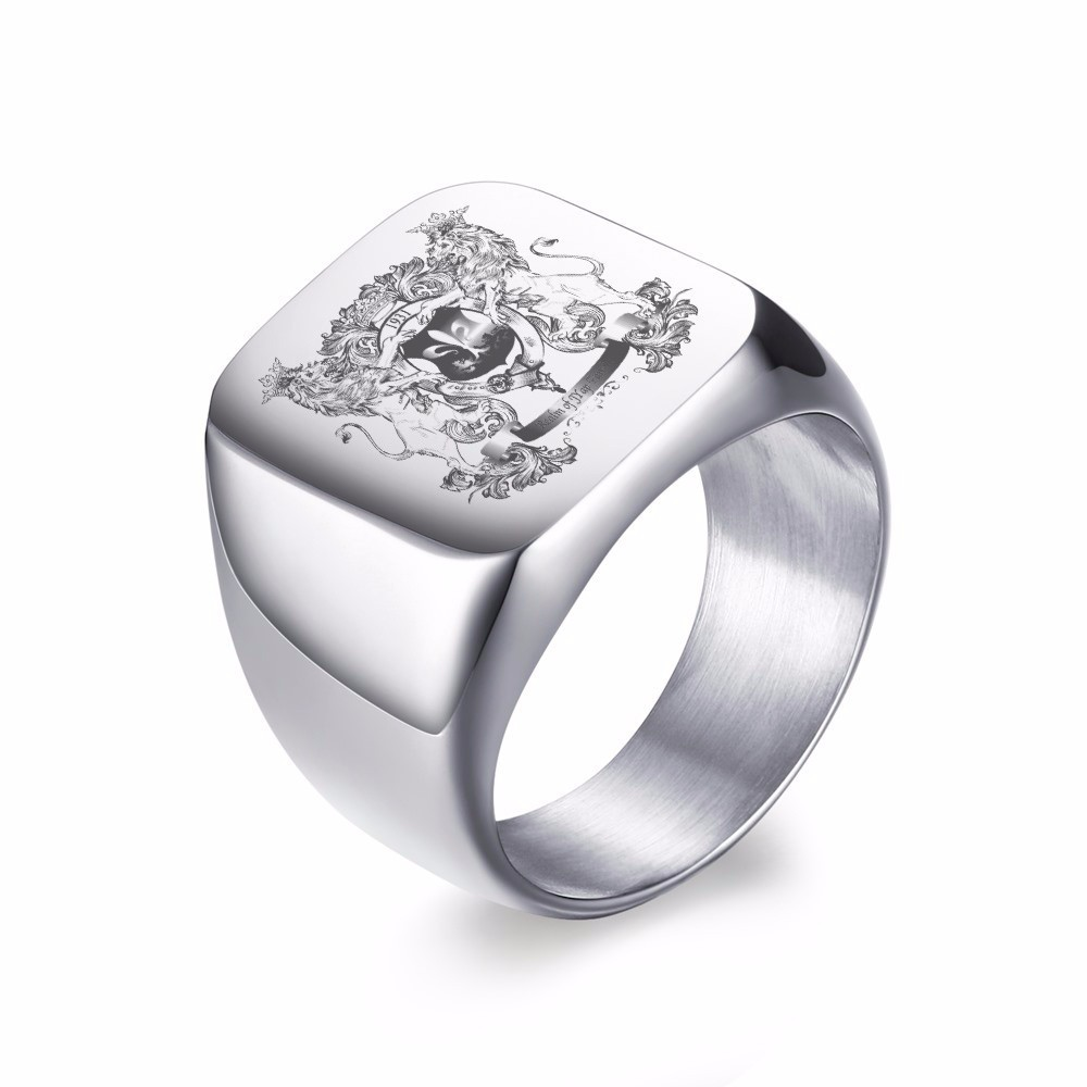 MPRAINBOW Custom Free Engraving Message Stainless Steel Ring for Women Wrap Ring for Women
