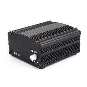 Image 2 - למעלה עסקות 48V USB פנטום אספקת חשמל USB כבל מיקרופון כבל עבור מיני מיקרופון הקבל הקלטת ציוד שחור