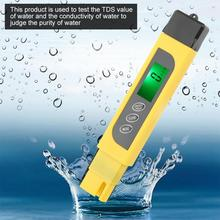 ec cf tds ph c f multifunction 6 in 1 ph meter water quality meter with rechargeable battery tri scale screen display ph meter Tester 3 in 1 LCD Display Digital Water Quality Tester Portable TDS Purity Meter 0-99 PH Meters digital meter
