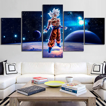 5 Piece Dragon Ball Super Cartoon Movie Poster Paintings for Children Room Wall Decor