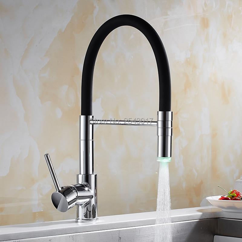 GIZERO Kitchen Swivel Faucet Hot&Cold Mixer LED Faucet