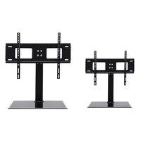 Universal Tabletop TV Stand Base Vesa Pedestal TV Mount Rack for Flat LCD LED 26'' 55'' Television Accessories Parts Black