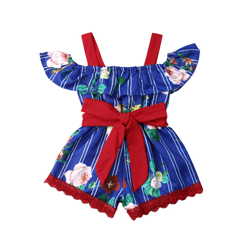 23e01002f PUDCOCO Fashion Newborn Kids Baby Girls Fashion Floral Rompers Kids Summer  Cotton Jumpsuit Pop Clothes Casual