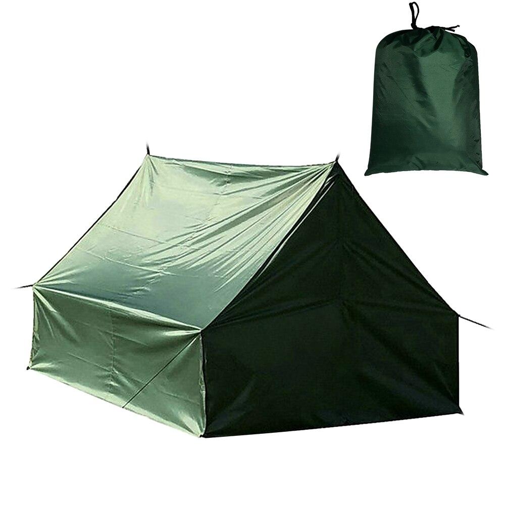 Tente de Camping multifonctionnelle hamac pluie mouche bâche imperméable Ripstop couverture de pluie tapis de sol auvent extérieur changeant abri