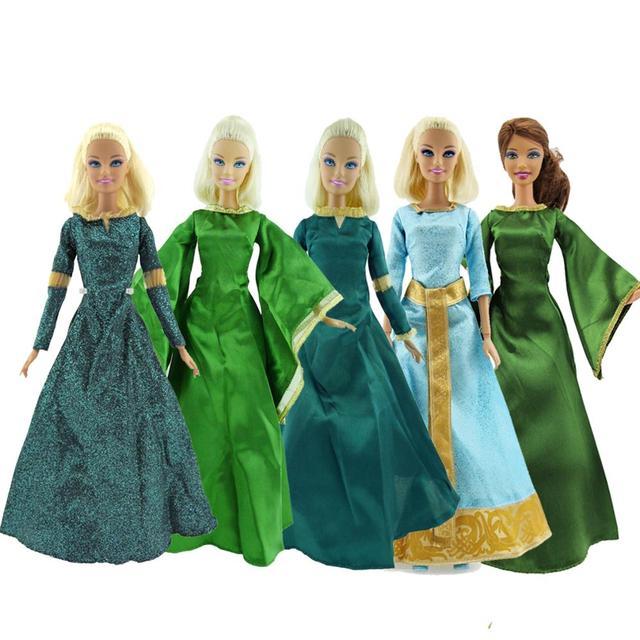 Lot Copy Melinda Princess Dress Retro Vintage Classic Cartoon Green Party  Ball Gown Doll Accessories Clothes 156d9d6efc54