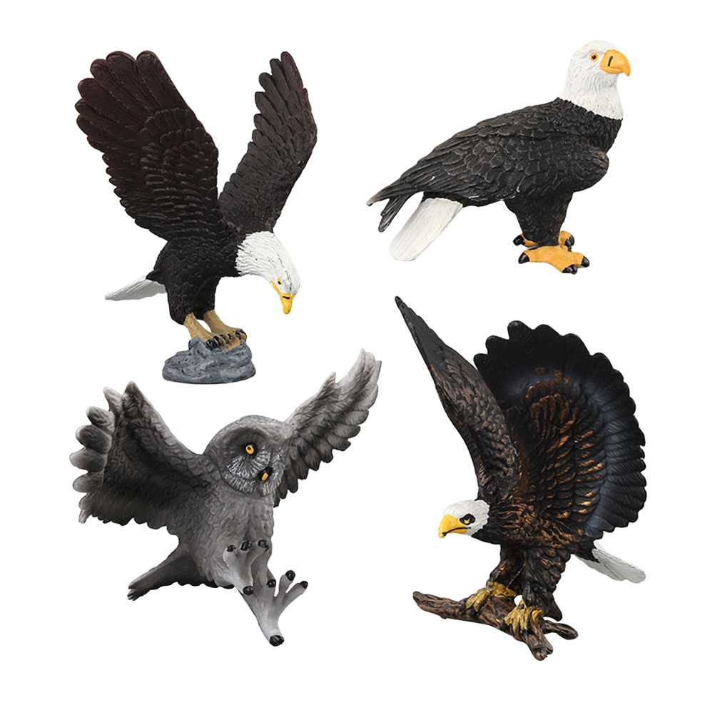 Animal-Model Infant Creative for Newborn-Baby Home 4pcs Toy-Prop Artificial-Wild