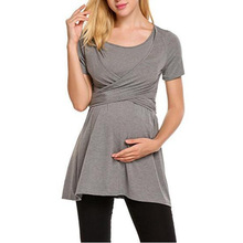 Ma'am O-Neck Short Sleeve Tee Pregnancy t-shirt Soft Breastfeeding Woman Top Maternity Summer Clothing S/M/L/XL/2XL/3XL 8 Colors