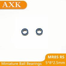 2019 Time-limited Rushed Mr85rs Bearing Abec-3 (10pcs) 5x8x2.5 Mm Miniature Mr85-2rs Ball Bearings Blue Rubber Sealed Mr85 Rs