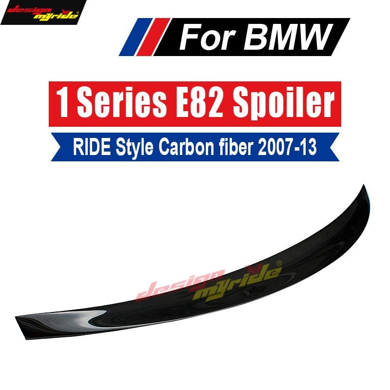 For E82 Tail Rear Spoiler Lip Wing Ride style Carbon fiber 118i 120i 125i 128i 130i 135i tail 2007-13