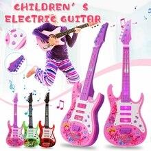 4 струны музыка электрогитара дети музыкальные инструменты Развивающие игрушки для детей Juguetes как подарок на год