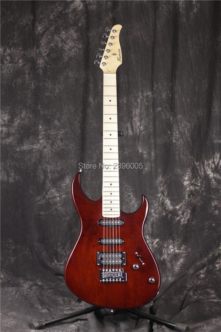 Guitare électrique strat humaine, finition brillante transparente. Marque humaine st guitare, essentiel du poisson. action inférieure, guitare d'usine chinoise