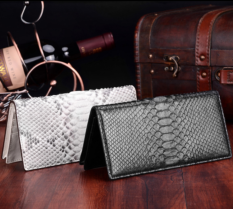 цены Lidies genuine real python leather women wallet snake leather wallet long clutch wallet