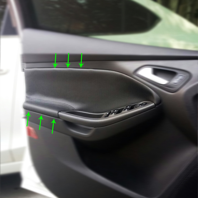 Us 17 67 32 Off Microfiber Leather Interior Car Styling Door Handle Armrest Panel Covers Trim For Ford Focus 2012 2013 2014 2015 2016 2017 2018 In