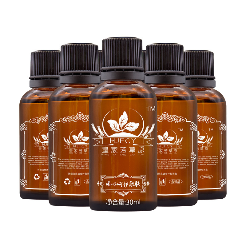 10PCS 30ml Natural Plant Aromatic Essential Oil Lymphatic Drainage Ginger Oil Anti Aging Body Massage SPA Oil For Shoulder Neck