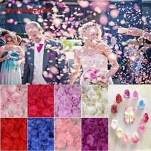 1000 шт. шелк лепестки роз для Свадебная вечеринка аксессуары Любовь Романтические Искусственные цветы празднование, Вечеринка свадебные оформление мероприятий