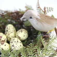13 см диаметр моделирование Птичье гнездо ложная Птичье гнездо Декор реквизит Пасха поставка большой круглый Птичье гнездо дворовый садовый декор с яйцом