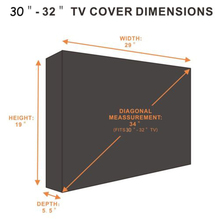 TV Cover Outdoor Black Weatherproof Dust-proof Protector For