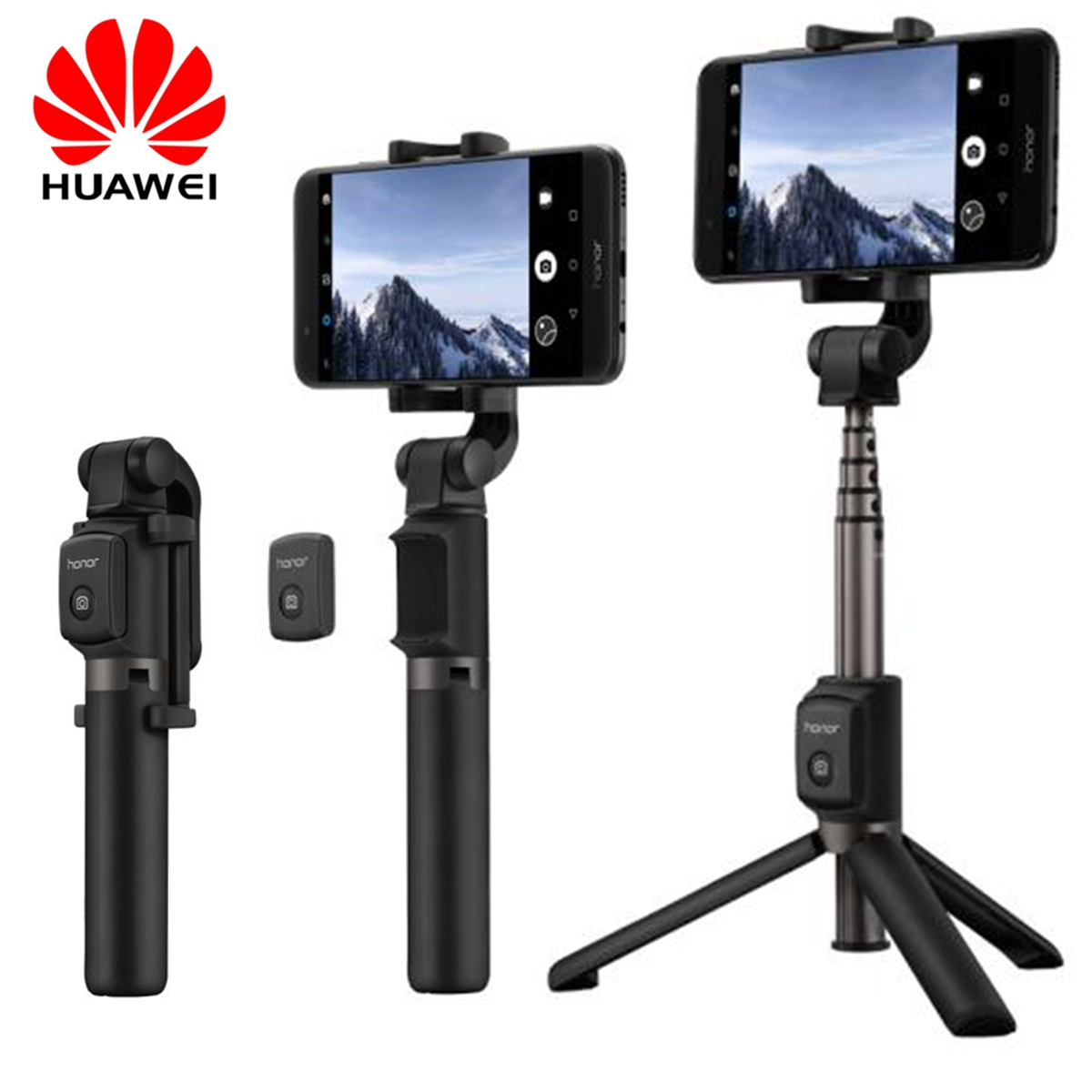 Original Huawei 360 Degree Rotation Extendable Portable Mini Tripod Wireless Bluetooth Remote Phone Selfie Stick for iOS Android