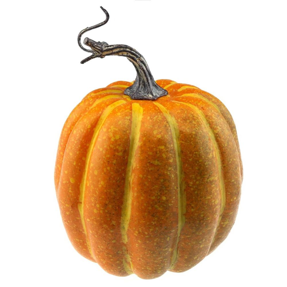 Gresorth 15 cm Fake High Quality Pumpkin Yellow Artificial Food Halloween Christmas Decoration in Artificial Foods Vegetables from Home Garden