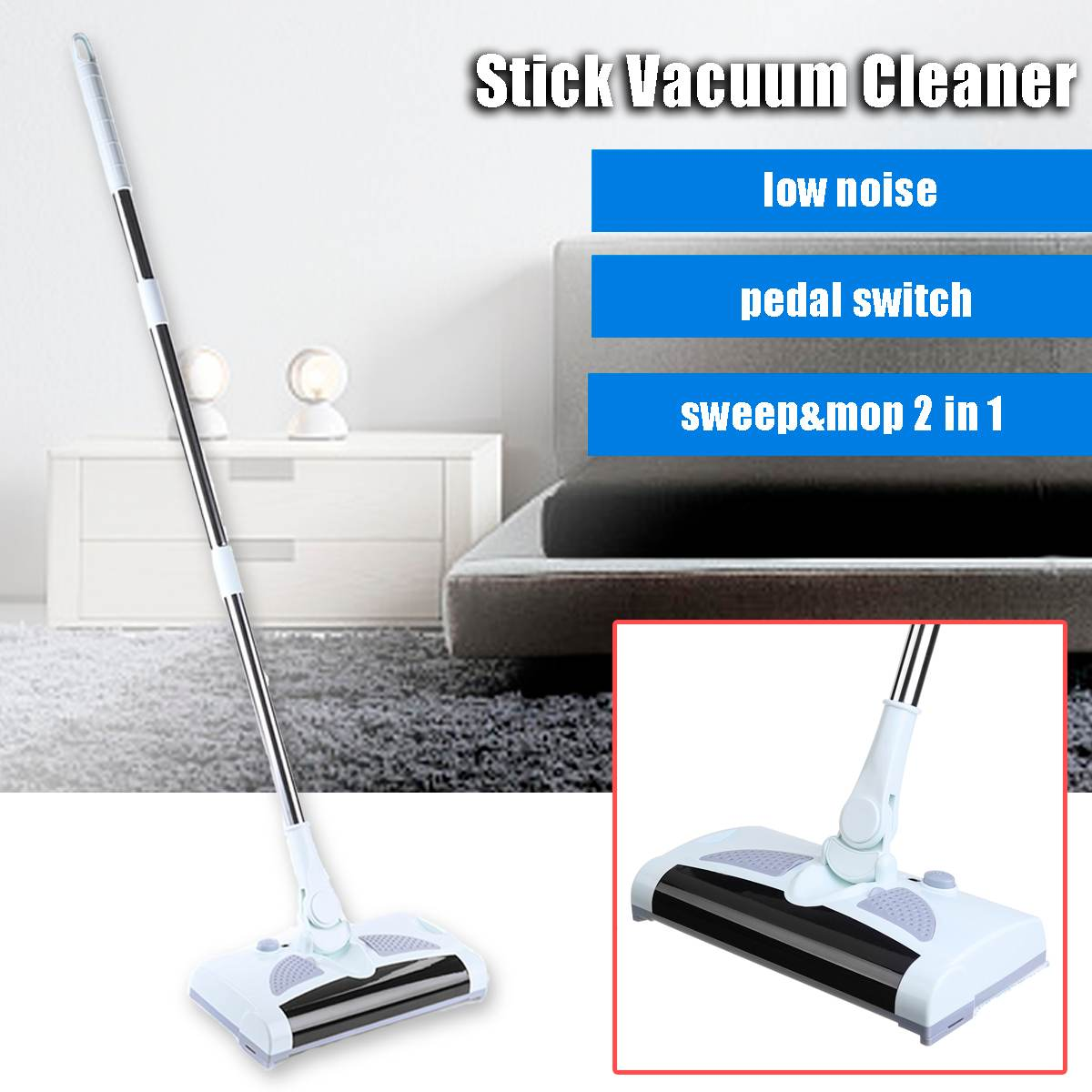 Warmtoo 220V EU Plug Two-In-One Wireless Rechargeable Stick Vacuum Cleaners Handheld Portable Cordless Sweep Clean MachineWarmtoo 220V EU Plug Two-In-One Wireless Rechargeable Stick Vacuum Cleaners Handheld Portable Cordless Sweep Clean Machine