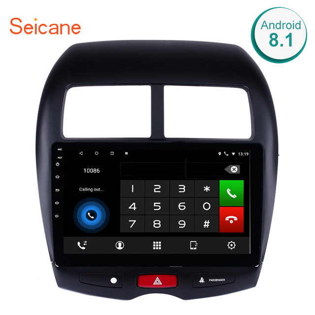 Seicane GPS Android 6.0/7.1/8.1 WIFI Bluetooth HD Touchscreen Car Stereo FM/AM Radio For 2010-2015 Mitsubishi ASX Peugeot 4008