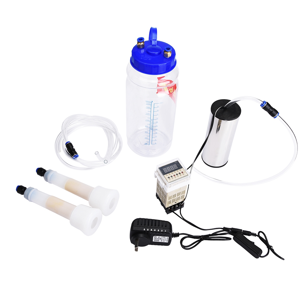 2L Portable Electric Milking Machine with Pulse Controller for Cow Sheep 100 240V AU Plug