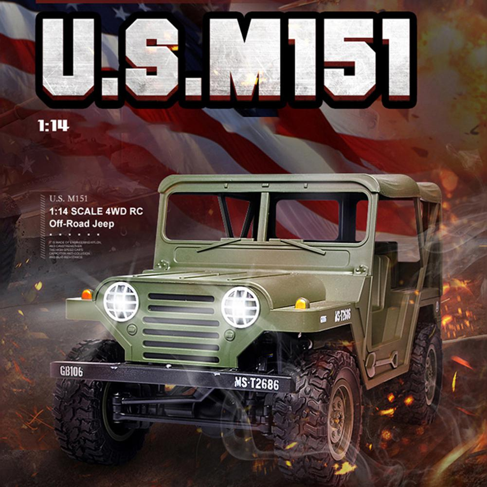 LeadingStar 1:14 2.4G 4WD RC Car Toy for Off rode Military Truck B 36 Remote Contral Climbing Rock Crawler Kit