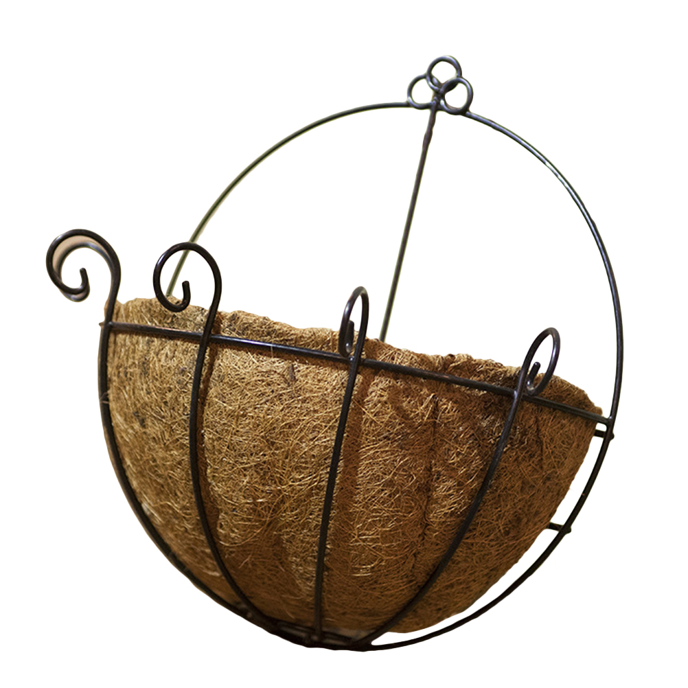 Metal Hanging Planter Coconut Basket Round Steel Wires Plant Holder Decor Hanging Flower Pots Baskets Garden Supplies