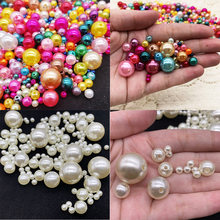 3~25mm Imitation ABS Pearls Beads Round Loose Beads White/Ivory/Mixed Color for DIY Handmade Bracelet Jewelry Making Accessories(China)