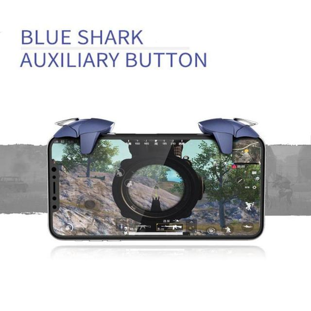 Blue Shark for PUBG Gaming L+R Metal Mobile Fire Key Gamepad Joystick Controller Smartphone Game Handle Pad Dropshipping