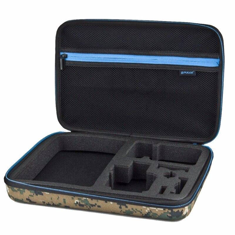 Travel-Case Stocker Waterproof For Hero 4 3/2/1-32cm-x-22cm-x-7cm Puluz Carrying Camouflage-Pattern