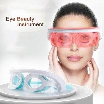 3D перезаряжаемый Электрический массажер для акупунктуры с зеленым светом, прибор для защиты глаз от усталости и снятия стресса
