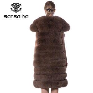 Image 3 - Real Fox Fur Vest Long Women Fur Vest Winter Female Sleeveless Natural Fur Fashion Ladies Clothes Furry Plus Size 7XL 6XL 5XL