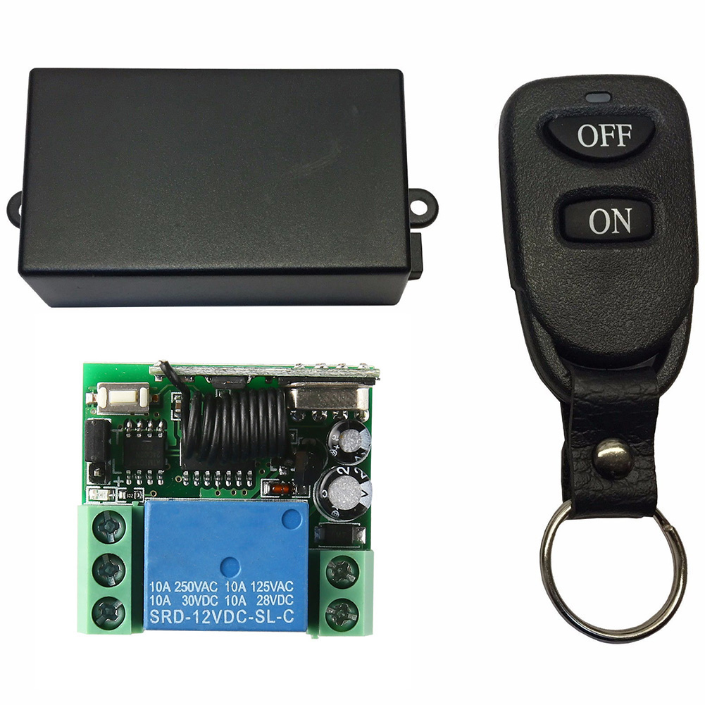 Relay 12V DC Professional Module Shell Transmitter Receiver Durable RF 10A Universal Wireless RC Set